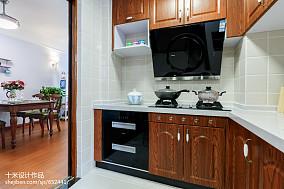 精美76平米二居厨房美式装饰图片大全