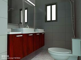 精美简约小户型卫生间设计效果图