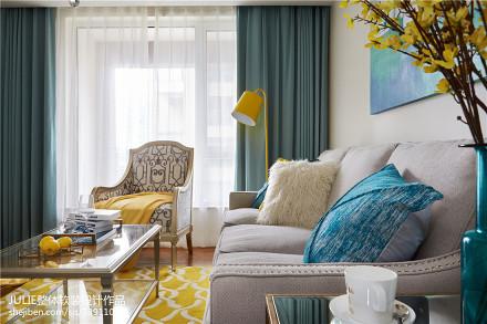 2018精选大小73平美式二居客厅装修设计效果图二居美式经典家装装修案例效果图