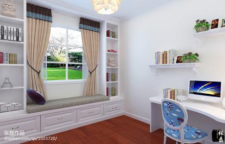 精美面积123平简欧四居书房装修实景图片大全