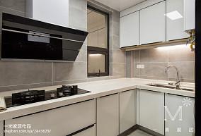 精美103平米三居厨房北欧装修实景图片大全三居北欧极简家装装修案例效果图