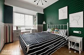 精美99平米三居儿童房北欧装修效果图片大全三居北欧极简家装装修案例效果图