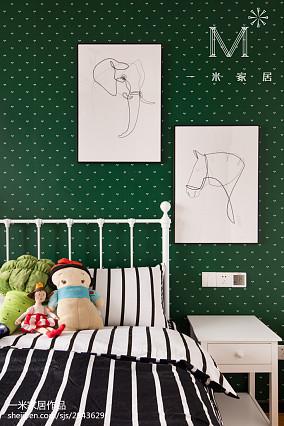 温馨76平北欧三居儿童房装修效果图三居北欧极简家装装修案例效果图