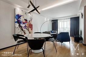 面积93平北欧三居餐厅装修设计效果图片大全三居北欧极简家装装修案例效果图