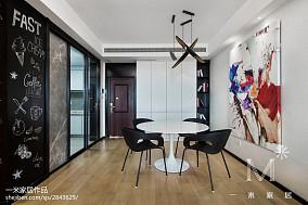 精选96平米三居餐厅北欧装修设计效果图三居北欧极简家装装修案例效果图