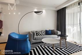 2018精选105平米三居客厅北欧欣赏图三居北欧极简家装装修案例效果图