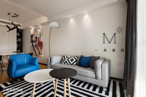精选97平米三居客厅北欧装饰图片欣赏客厅窗帘