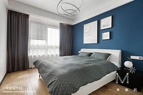 2018精选98平米三居卧室北欧装修实景图片欣赏三居北欧极简家装装修案例效果图