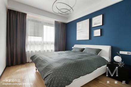 2018精选98平米三居卧室北欧装修实景图片欣赏