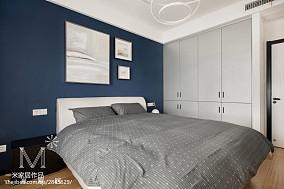 平米三居卧室北欧欣赏图片三居北欧极简家装装修案例效果图