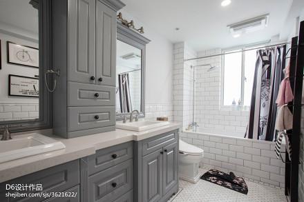 美式风格灰色系卫浴效果图餐厅