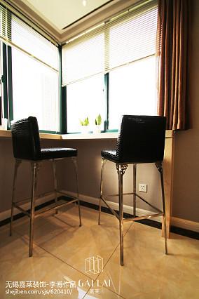 热门109平米三居餐厅简约装饰图