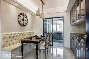 热门73平米二居餐厅美式实景图片