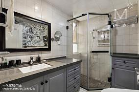 面积72平美式二居卫生间装饰图片大全