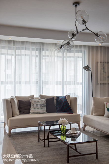 北欧四居客厅装修设计效果图