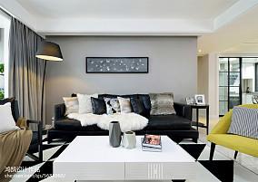 精选面积98平简约三居客厅装修设计效果图片欣赏