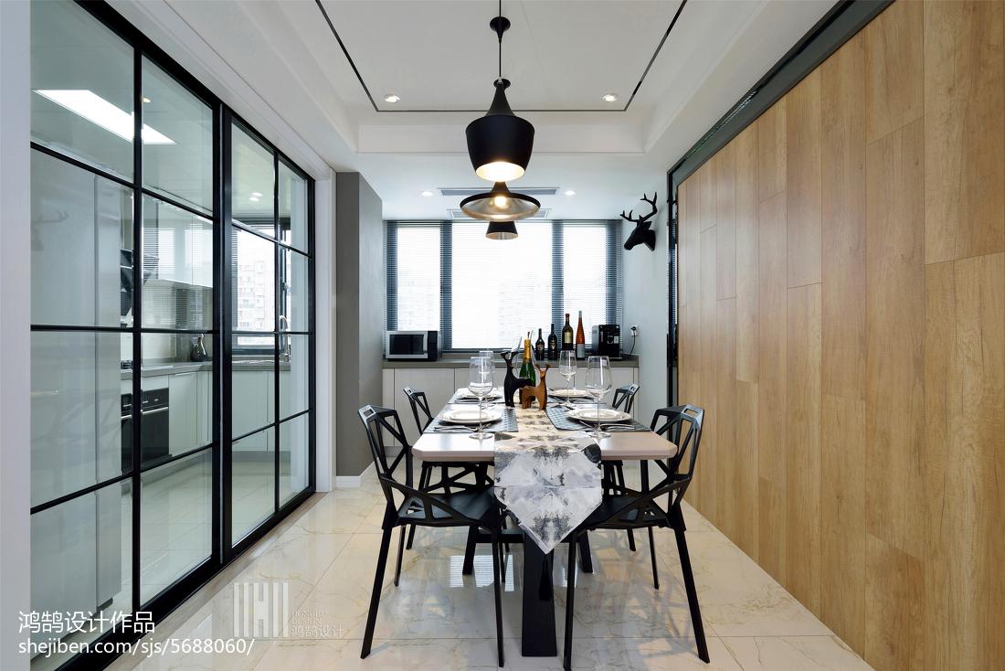 精选三居餐厅简约实景图厨房现代简约餐厅设计图片赏析