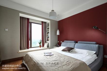浪漫80平简约三居装饰美图卧室