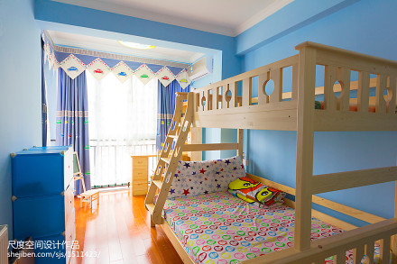 92平米三居儿童房美式装修图片101-120m²三居美式经典家装装修案例效果图