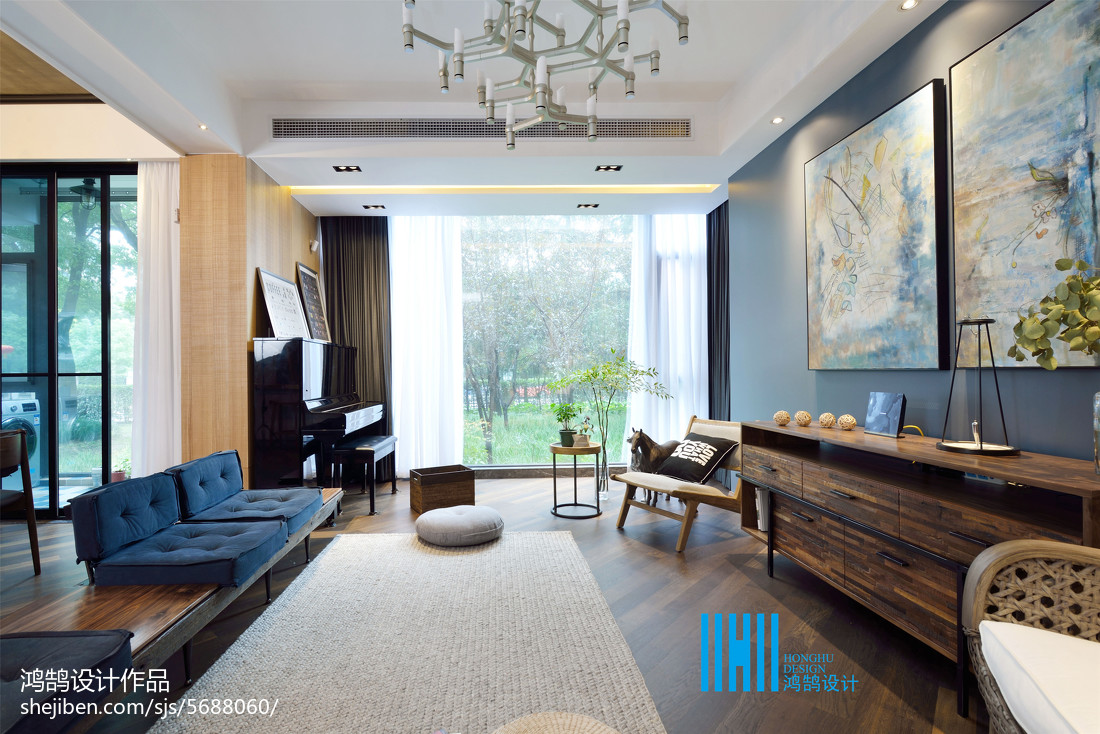 热门混搭效果图片欣赏90平客厅沙发潮流混搭客厅设计图片赏析