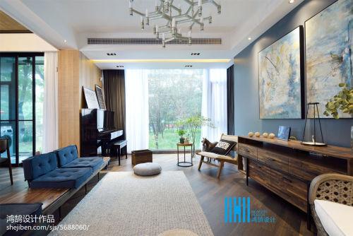 热门混搭效果图片欣赏90平客厅地板2图