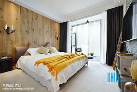 精美102平方三居卧室混搭装修设计效果图片