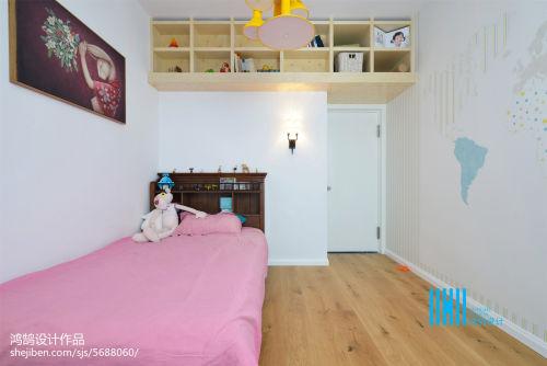 2018精选三居儿童房混搭装修图片欣赏卧室木地板2图