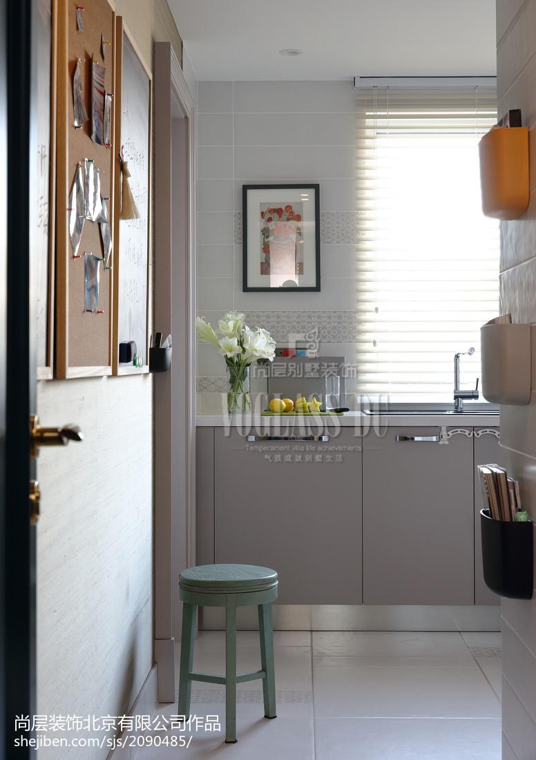 热门面积118平别墅厨房混搭装修图餐厅潮流混搭厨房设计图片赏析