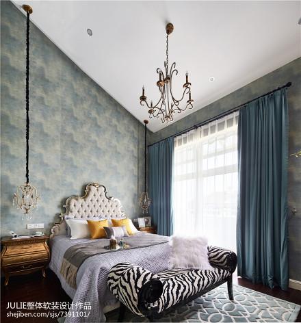 2018美式别墅装修实景图片欣赏卧室
