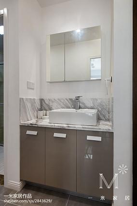 精选90平米三居卫生间北欧装修欣赏图家装装修案例效果图