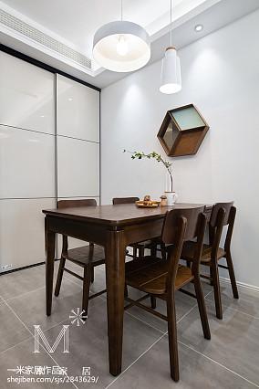 热门108平米三居餐厅北欧装修图片大全三居北欧极简家装装修案例效果图