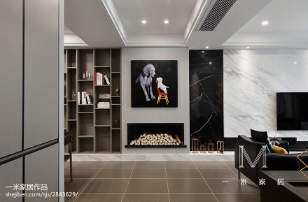 温馨177平现代四居图片大全四居及以上现代简约家装装修案例效果图