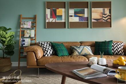 精美北欧四居客厅装修实景图四居及以上北欧极简家装装修案例效果图