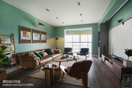 2018精选北欧四居客厅装修实景图片欣赏客厅2图