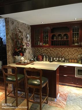 大氣320平美式別墅廚房裝飾美圖