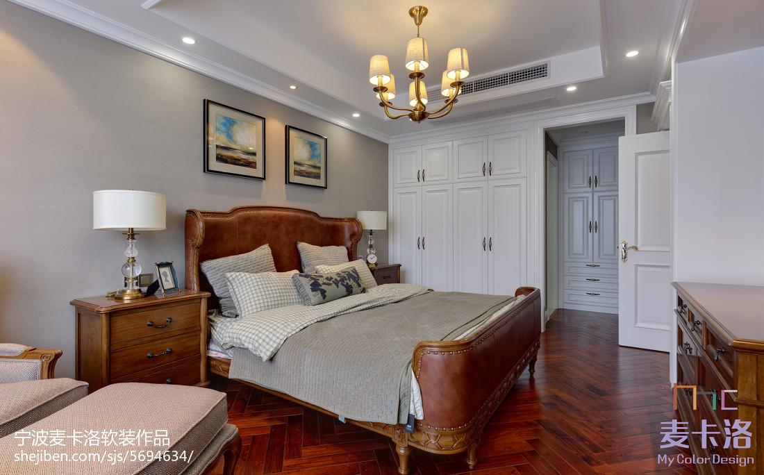 精选95平方三居卧室美式装修设计效果图片欣赏卧室美式经典卧室设计图片赏析