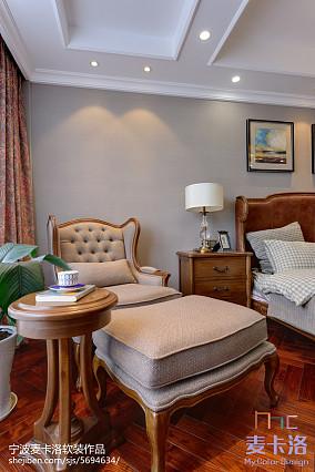 热门面积96平美式三居休闲区装修欣赏图片