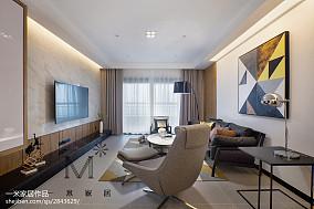 热门98平米三居客厅现代装修实景图片