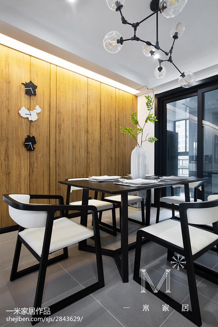 精美96平方三居餐廳現代效果圖廚房現代簡約餐廳設計圖片賞析
