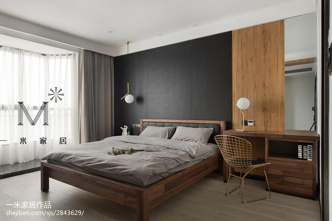 精美107平方三居卧室现代装修实景图卧室2图