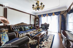 精选面积104平欧式三居客厅实景图片