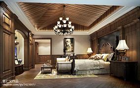 热门面积121平别墅卧室美式装修设计效果图