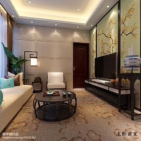 热门大小140平别墅卧室中式装修欣赏图片