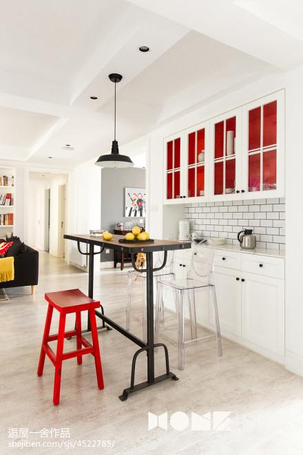 优雅129平北欧四居餐厅装修设计图厨房