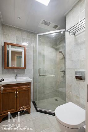 精选98平米三居卫生间美式装修实景图片121-150m²三居美式经典家装装修案例效果图