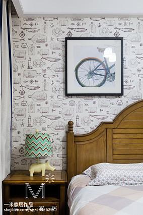 2018精选101平米三居卧室美式装修设计效果图片欣赏121-150m²三居美式经典家装装修案例效果图