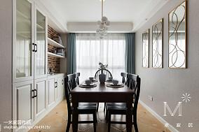 轻奢94平美式三居实景图121-150m²三居美式经典家装装修案例效果图