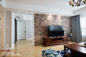 优美129平美式三居效果图121-150m²三居美式经典家装装修案例效果图