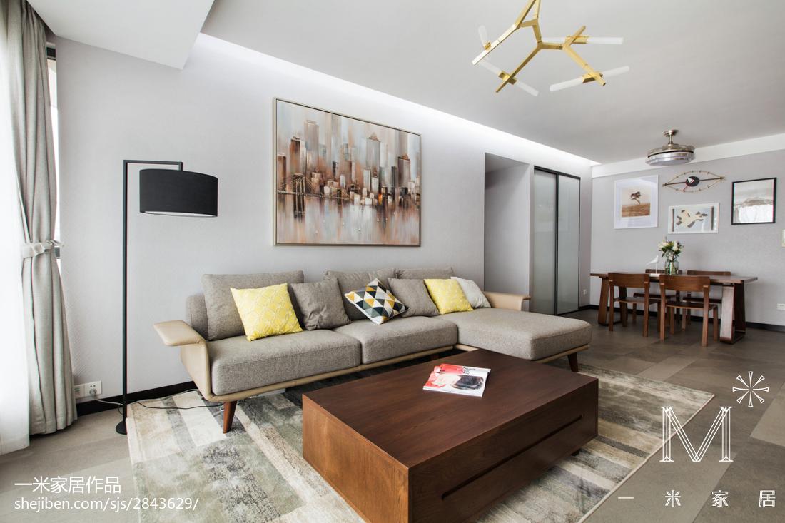 精美93平大小客厅三居现代装修实景图片大全客厅沙发2图现代简约客厅设计图片赏析