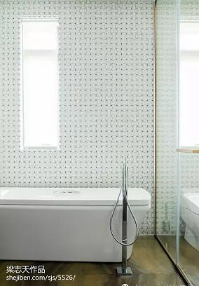热门136平米混搭别墅卫生间设计效果图